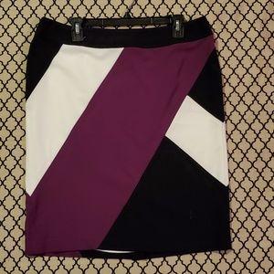 Nine West Color Block skirt size 12